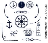 nautical and marine icons.... | Shutterstock .eps vector #450470233