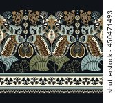 paisley floral seamless pattern.... | Shutterstock .eps vector #450471493