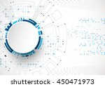 abstract technological... | Shutterstock .eps vector #450471973