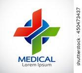 medical pharmacy logo design... | Shutterstock .eps vector #450473437