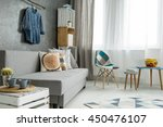 new style flat in grey with... | Shutterstock . vector #450476107
