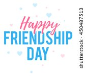 happy friendship day greeting... | Shutterstock .eps vector #450487513