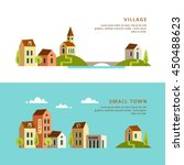 village. small town. rural and... | Shutterstock .eps vector #450488623