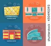 supermarket icons set. flat...   Shutterstock .eps vector #450490393