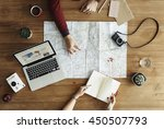 map travel trip destination... | Shutterstock . vector #450507793