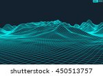 abstract vector wireframe... | Shutterstock .eps vector #450513757