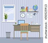workspace for freelancer in... | Shutterstock .eps vector #450525913