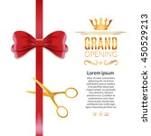 grand opening red ribbon and... | Shutterstock .eps vector #450529213