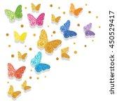 colorful glittering butterflies ...   Shutterstock .eps vector #450529417