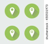 geo tagging icon illustration   ... | Shutterstock .eps vector #450531973