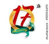 anniversary emblems 17... | Shutterstock .eps vector #450541693