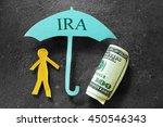 paper person under an ira... | Shutterstock . vector #450546343
