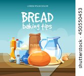 food baking ingredients vector... | Shutterstock .eps vector #450550453