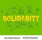 solidarity people representing... | Shutterstock . vector #450555643