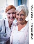 portrait of happy patient and... | Shutterstock . vector #450557923