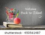 welcome back to school   | Shutterstock . vector #450561487