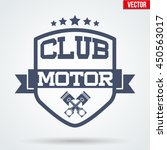 vintage motor club signs and... | Shutterstock .eps vector #450563017