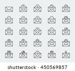email vector icon set in thin... | Shutterstock .eps vector #450569857