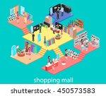 isometric interior of shopping... | Shutterstock .eps vector #450573583