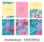 collection of happy birthday ...   Shutterstock .eps vector #450578923