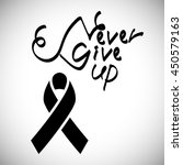 never give up. breast cancer... | Shutterstock .eps vector #450579163
