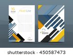 clean geometric design annual... | Shutterstock .eps vector #450587473