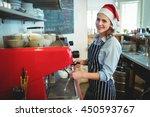 Portrait Of Happy Waitress...