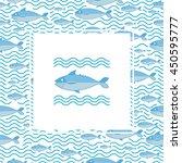 abstract creative sea fish...   Shutterstock .eps vector #450595777