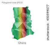 ghana map in geometric... | Shutterstock .eps vector #450599077