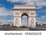 triumphal arch. paris. france.... | Shutterstock . vector #450602623