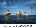 gulf thailand oil rig   may 22... | Shutterstock . vector #450606097