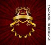 elegant golden frame with...   Shutterstock .eps vector #450609913