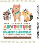 kids birthday invitation card... | Shutterstock .eps vector #450620827