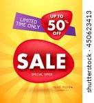 sale offer poster banner vector ... | Shutterstock .eps vector #450623413