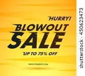 blowout sale offer poster... | Shutterstock .eps vector #450623473