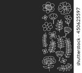 vector pattern with flowers... | Shutterstock .eps vector #450625597