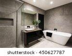 modern bathroom with a shower... | Shutterstock . vector #450627787