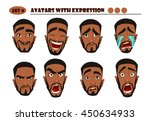 avatars with expression. black...