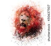 digital painting of  lion... | Shutterstock . vector #450637507