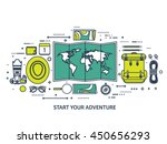 travel tourism vector... | Shutterstock .eps vector #450656293