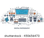 photography equipment with... | Shutterstock .eps vector #450656473