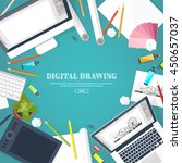 graphic web design. drawing and ...