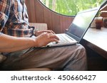 hands multitasking man working... | Shutterstock . vector #450660427