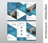 blue triangle business trifold... | Shutterstock .eps vector #450662863