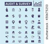 audit survey icons | Shutterstock .eps vector #450675253
