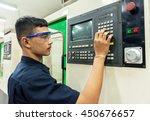 cnc operator  mechanical... | Shutterstock . vector #450676657