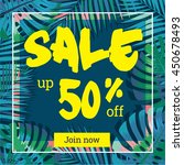 summer sale. web banner or...   Shutterstock .eps vector #450678493