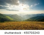 sunset with sun rays  sky with...   Shutterstock . vector #450703243