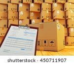 distribution warehouse interior ... | Shutterstock . vector #450711907