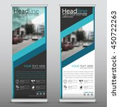 blue roll up business banner... | Shutterstock .eps vector #450722263